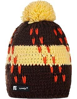 Morefaz - Gorro de invierno de lana unisex - Gorro estilo Beanie ... 622f59891d1