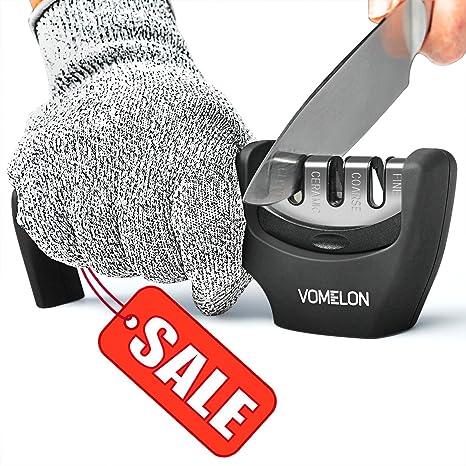 Amazon.com: Afilador de cuchillos de cocina, afilador de 3 ...
