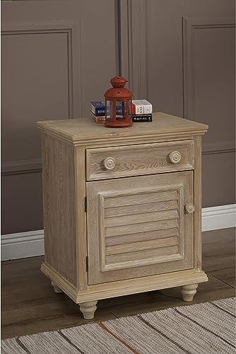 JOHN BOYD DESIGNS Cape May 1 Drawer Nightstand - a good cheap modern nightstand