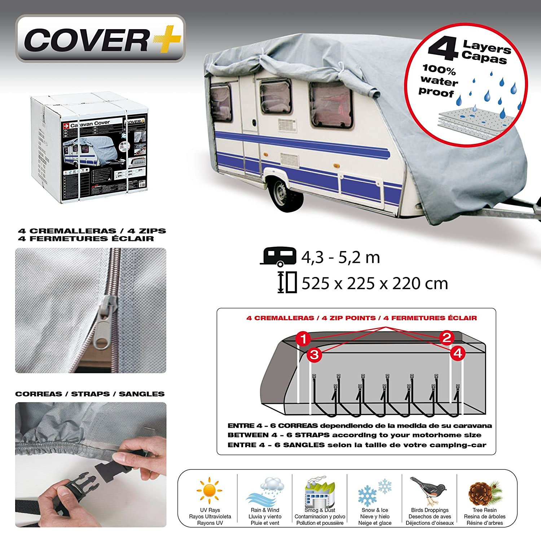 SUMEX COVCV14 Funda Protectora Cubre Caravana de 3,7-4,3 m 3,7