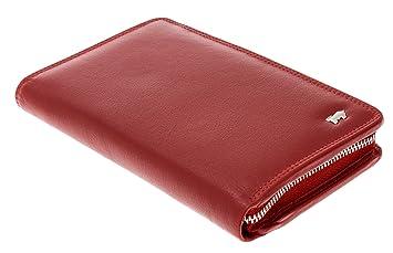 4912bb7fe40e4 BRAUN BÜFFEL Geldbörse Golf Handy BÖRSE Geldbeutel Lederbörse mit  Smartphone Fach +Etui (Rot)