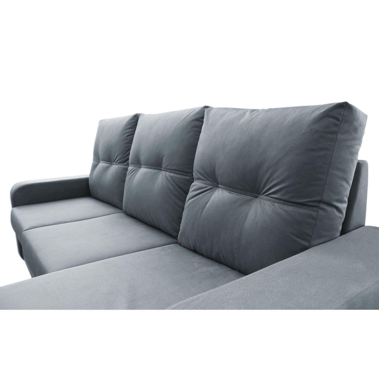 Mueble Sofa con Chaise Longue 3 plazas color gris cheslong ...