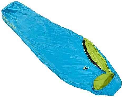 SALEWA Schlafsack Micro 600 - Saco de dormir momia para acampada, color azul, talla