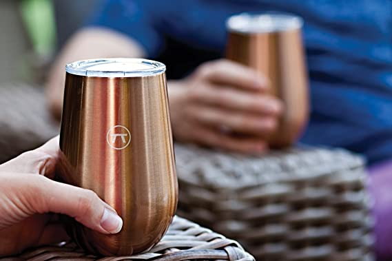 6ddf0df5b7b6 Amazon.com  Outset 76436 Double Wall Copper Drink Tumblers 12 oz  Kitchen    Dining