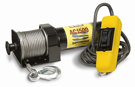 Superwinch 1715000 1500 de CA 120 V AC gancho, nominal línea Pull 1.500 kg/