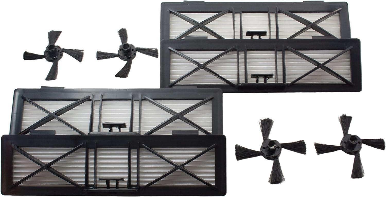 4 Neato BotVac Ultra filtro y 4 Cepillos laterales de Hannets ...