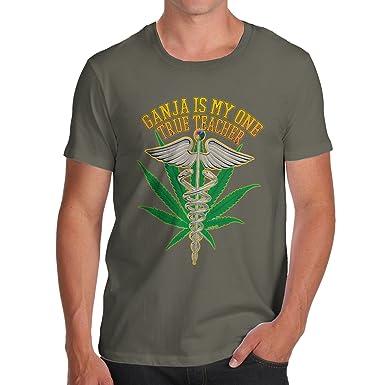 d163d875b TWISTED ENVY Funny T Shirts for Dad Ganja Teacher Men's T-Shirt Small Khaki