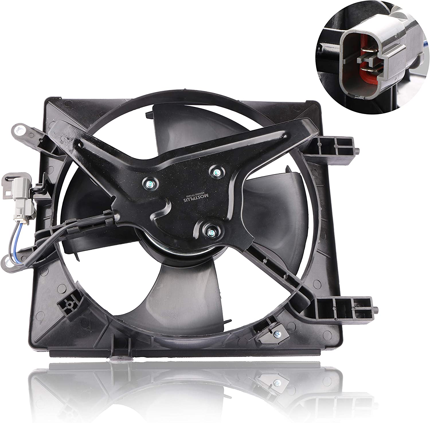 MOSTPLUS Radiator & AC Condenser Cooling Fan Assembly For Honda Civic Acura (Left Side)