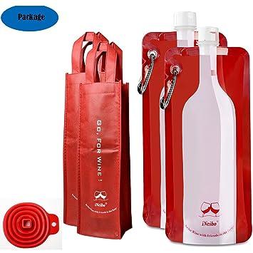 Cantimplora plegable, cantimplora plástico, iNeibo, botella reutilizable, botella plegable, botella plástico