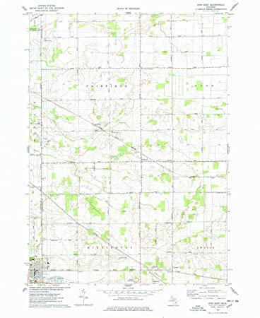 Ovid Michigan Map.Amazon Com Yellowmaps Ovid East Mi Topo Map 1 24000 Scale 7 5 X