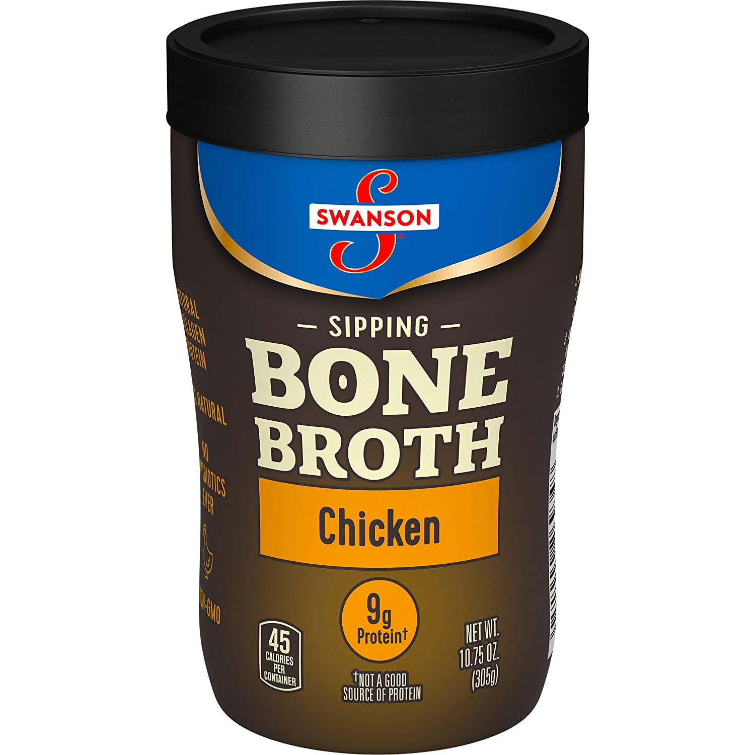 Amazon.com : Swanson Sipping Bone Broth, Chicken Bone Broth, 10.75 Ounce Sipping Cup : Grocery & Gourmet Food