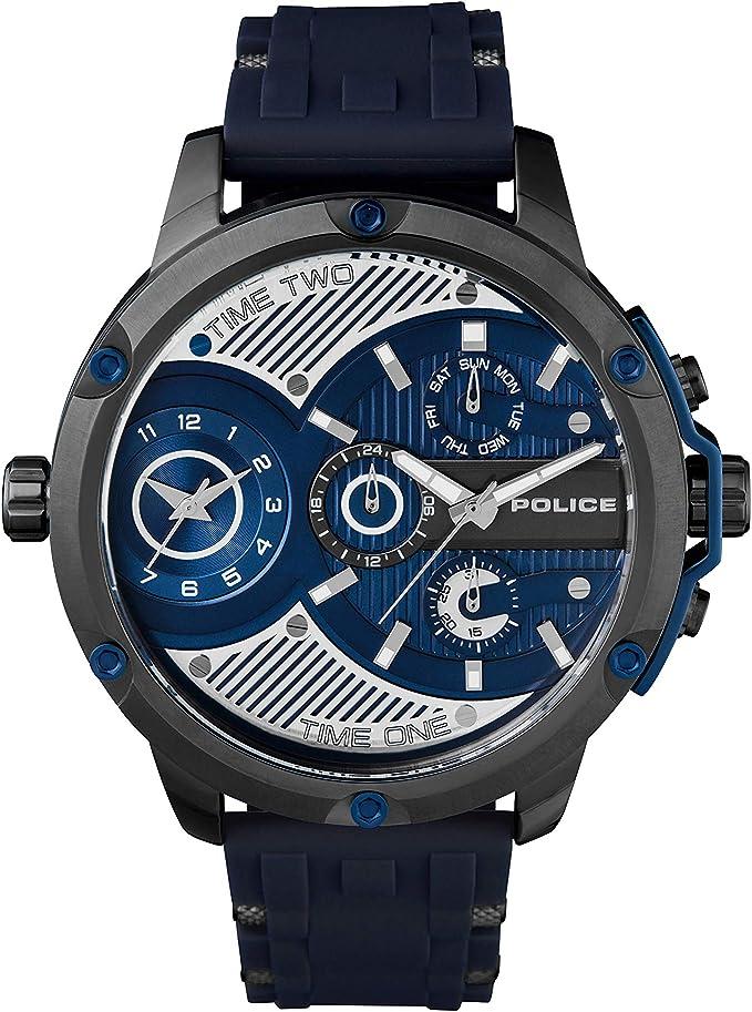 Police orologio multi-quadrante quarzo uomo con cinturino in silicone pl.15049jsu/03p