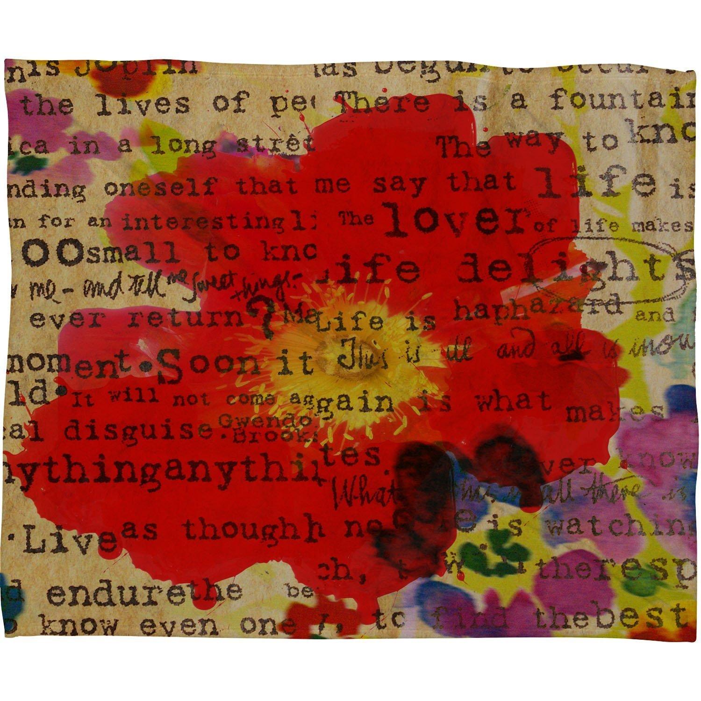 60 x 80 13847-flelar Deny Designs Irena Orlov Poppy Poetry 2 Fleece Throw Blanket