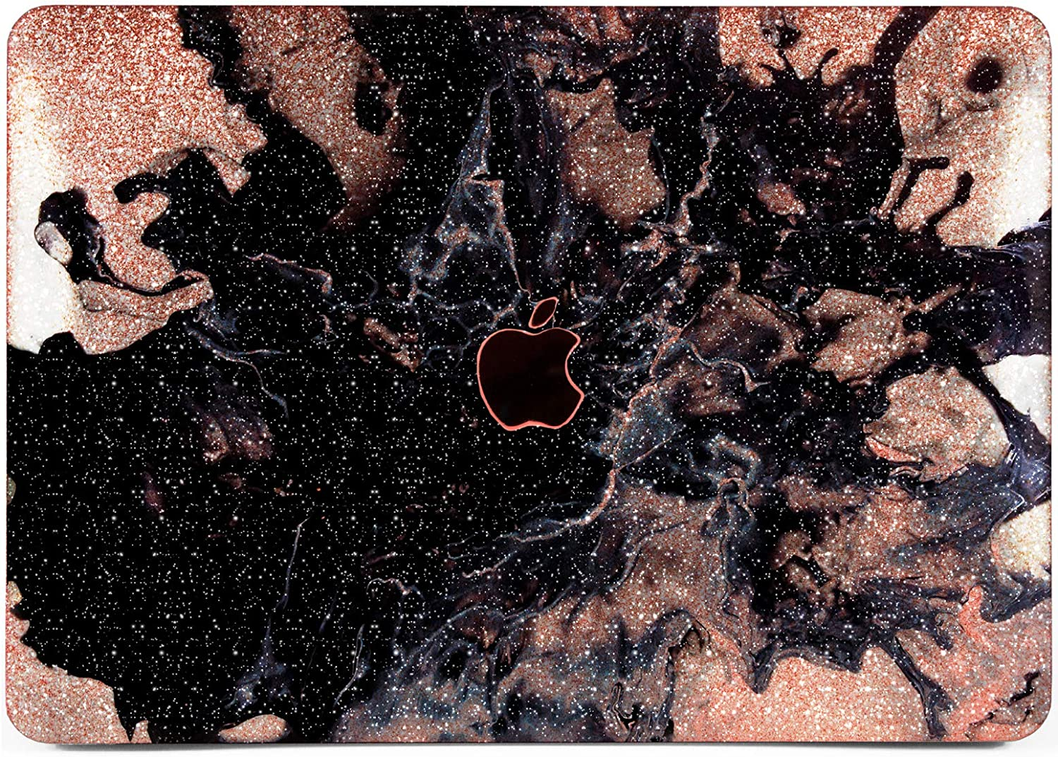 Cavka Hard Glitter Case for Apple MacBook Pro 13 2019 Retina 15 Mac Air 11 Mac 12 Bling Green Rose Gold Pink Gold Silver Marble Sparkly Beautiful Cracked New Cover Glossy Design Stone Print Shiny