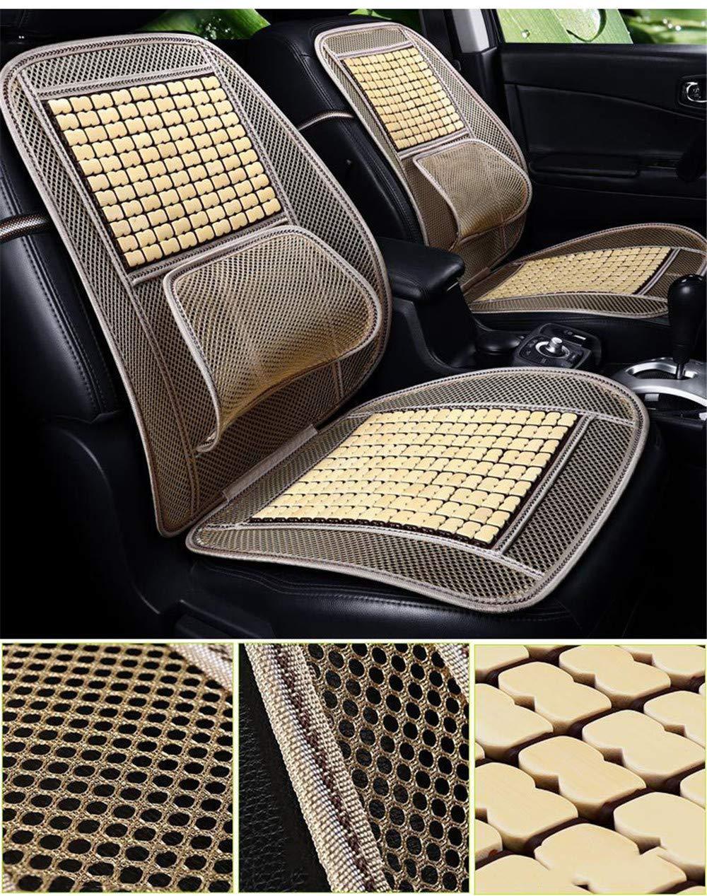 Holzperlen - Schwarzes Rot CULASIGN Universal Bambus Holz Autositz Sitzauflage Sommer Coole Kissen,Breathable Bel/üftung Bequeme Massage R/ückenst/ütze Lordosenst/ütze