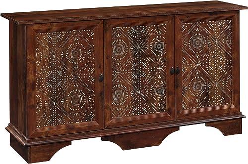 Sauder Viabella Storage Cabinet, L 59.06 x W 153.15 x H 31.54 , Curado Cherry