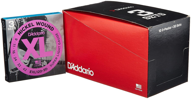 D'Addario ダダリオ エレキギター弦 ニッケル SuperLight .009-.042 EXL120-3D 3set入りパック x 10セット 【国内正規品】 B009RIJPXO 3セットパック x10
