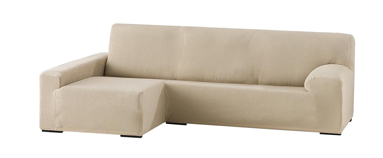 Eysa Funda Chaise Longue elástica, Beige, Tres Plazas, 90 x 240-280 x 155 cm