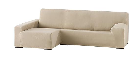 Eysa Funda Chaise Longue elástica, Crudo, Tres Plazas, 90 x 240-280 x 155 cm