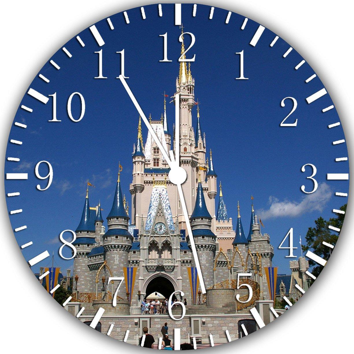 Disney Castle Frameless Borderless Wall Clock W317 Nice For Gift or Room Wall Decor