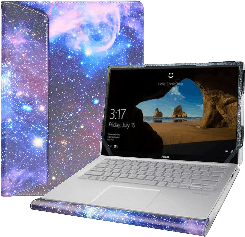 "Alapmk Protective Case for 14"" Asus Q406DA & Dell Latitude 7400 5400 5401 5410 5411 & Lenovo Yoga C940 14 C940-14IIL/Yoga C740 14 C740-14IML/IdeaPad Flex 5 14IIL05 14ARE05 14Q8CX05 Laptop,Galaxy"