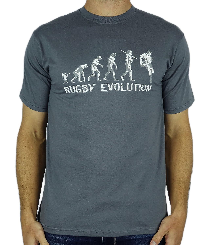 私の世代のギフトラグビーの進化 - 面白いラグビーギフトメンズTシャツチャコールXL B003HK7J18