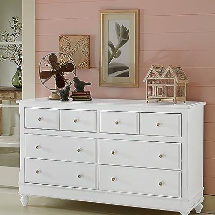 Amazoncom Ne Kids Lake House 8 Drawer Dresser In White Toys Games