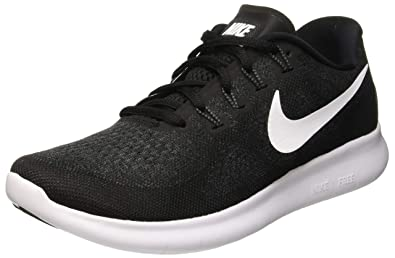 online store a679c 730b7 Image Unavailable. Image not available for. Color  Nike Women s Free RN  2017 Running Shoe, Black White-Dark Grey-Anthracite