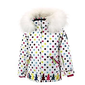 134bff0aecc9c Degré 7 Kid Rosace Veste de Ski Fille, Blanc, FR : XXS (Taille ...