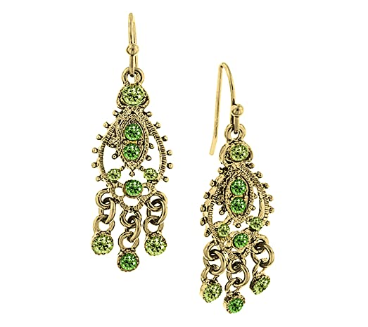 Amazon 1928 jewelry goldtone green chandelier earrings jewelry 1928 jewelry goldtone green chandelier earrings mozeypictures Choice Image