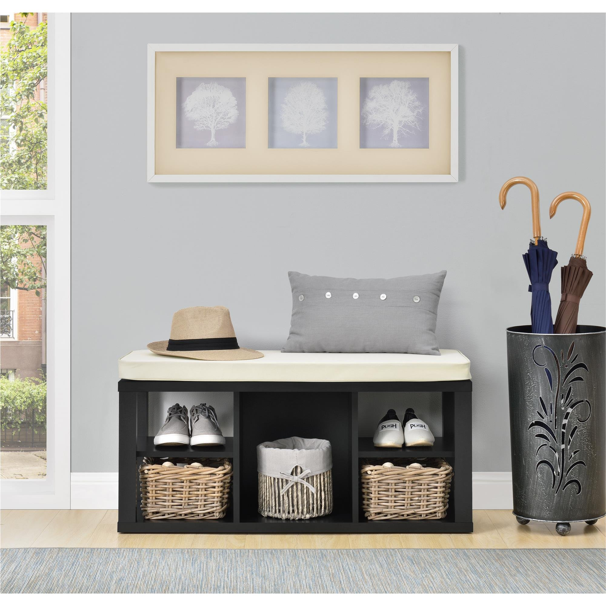 Ameriwood Home Parsons Storage Bench, Black by Ameriwood Home (Image #8)