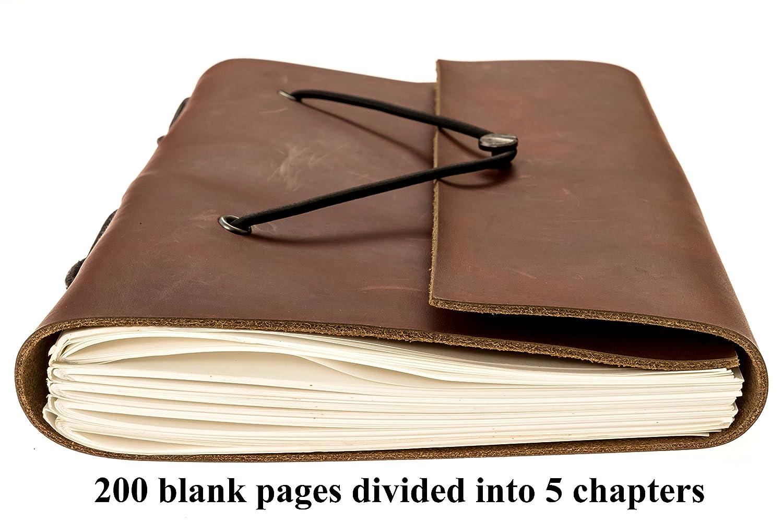 Amazon.com: Genuine Leather Notebook – PREMIUM – Funda de ...