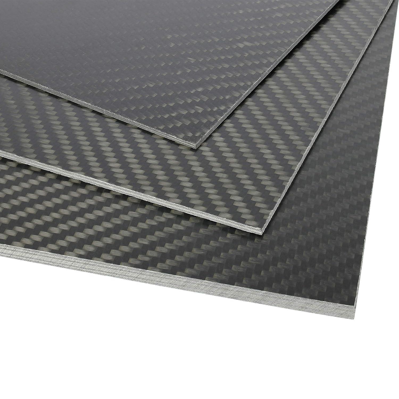 Carbon Dauerdruckplatte 1,0 x 250x250mm 3D Drucker Druckplatte für ABS PLA PETG Hips PMMA Filament