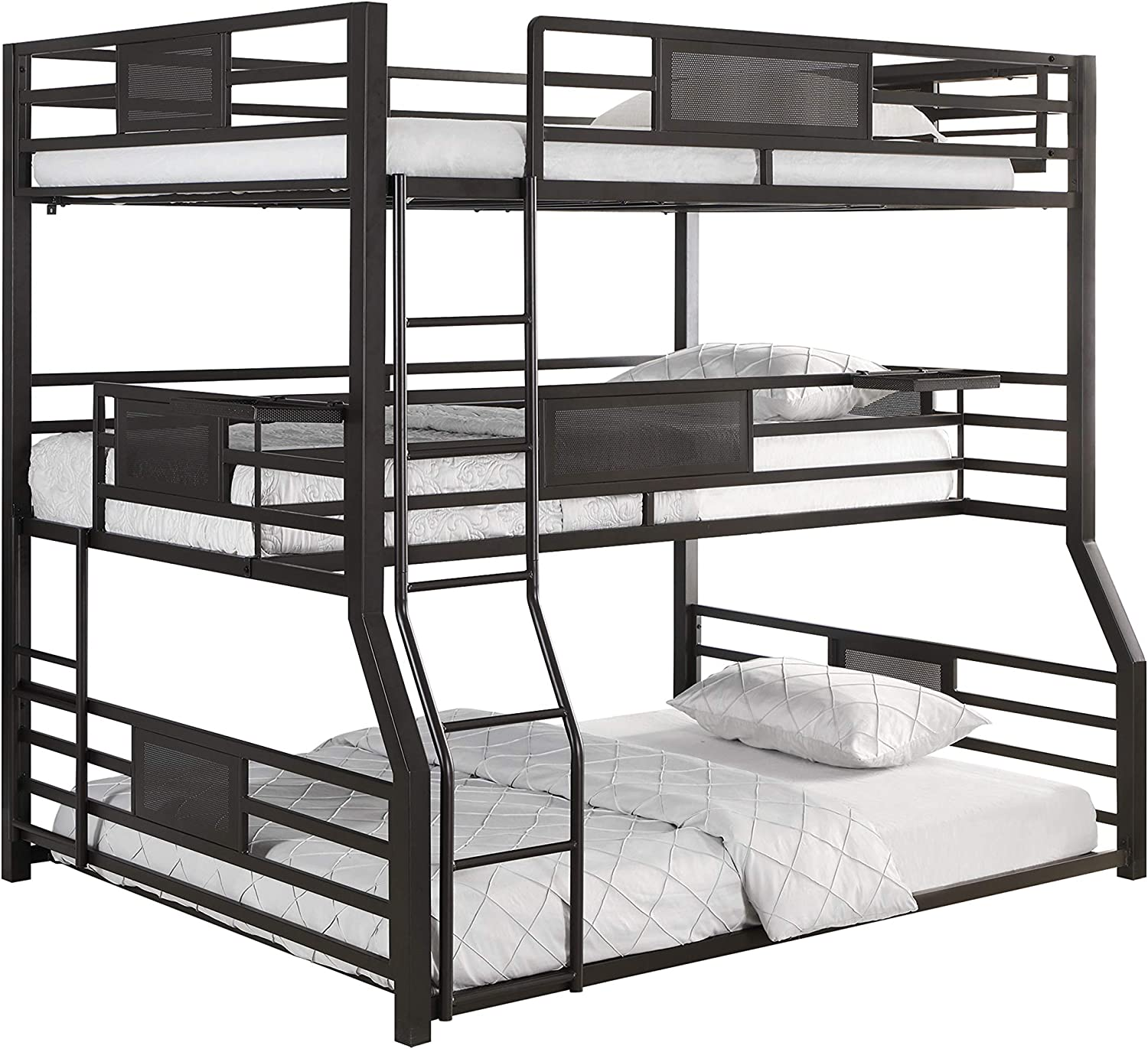 Coaster Home Furnishings Rogen Full Over Twin XL Over Queen Triple Bed Dark Bronze Bunk