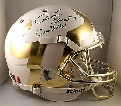 Image Unavailable. Image not available for. Color  Quinton Flowers  Autographed Helmet ... 87d105c6b