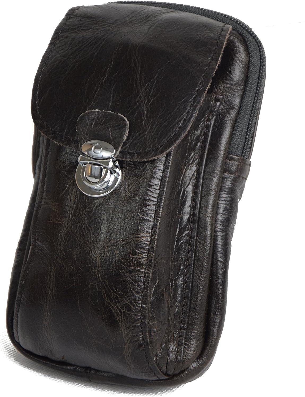 Riñonera del Sherif XL (Nueva versión) Estuche para el cinturón Broche Hecho Mano Cuero Natural