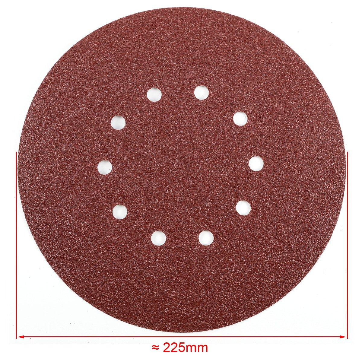 25 50 pcs 225mm mix grit sander disc sanding pad