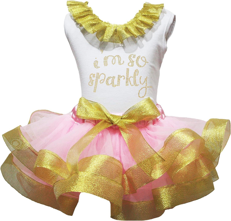 Bebé vestido I Am So traje de camisa de color blanco oro rosa ...