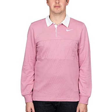 c430d8871a2 Image Unavailable. Image not available for. Colour: Nike SB Dry Blend' Rugby  Shirt. Elemental Pink/White.
