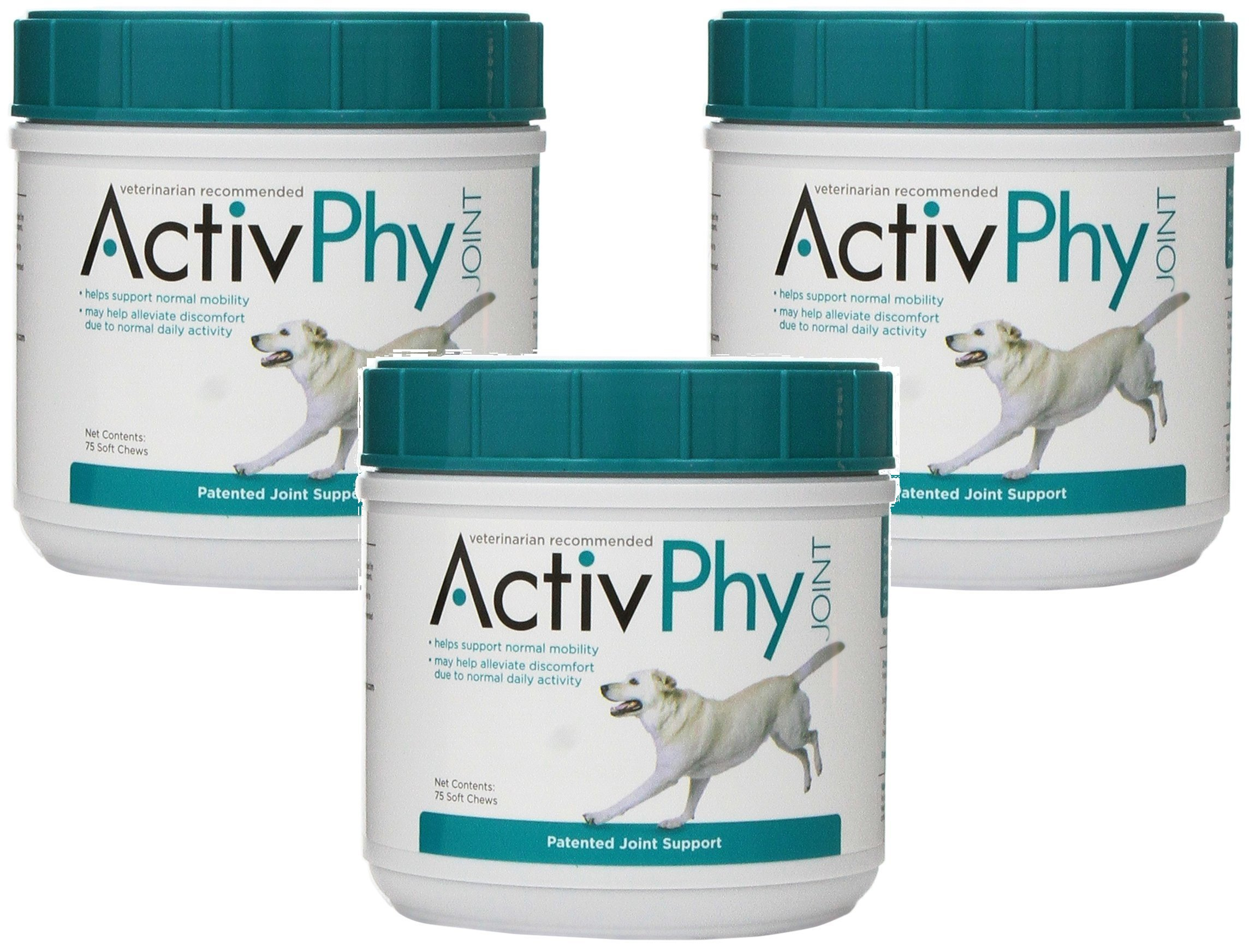 (3 Pack) Activphy Joint Support Soft Chews For Dogs, 75 Count each