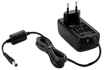 Ktec 1004172 - Cargador universal para disco duro externo (12 V, 3 A, 50/60 Hz), negro