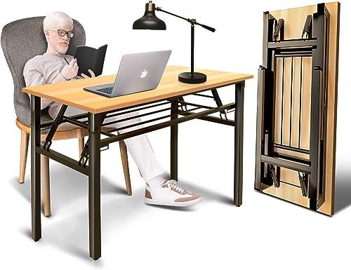 South Ocean Teak Color Desktop Double Folding Desk 39-38'' Length
