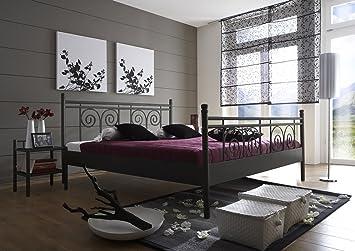 SAM® Metallbett 160x200 cm Rosario, Bettgestell schwarz, filigrane ...