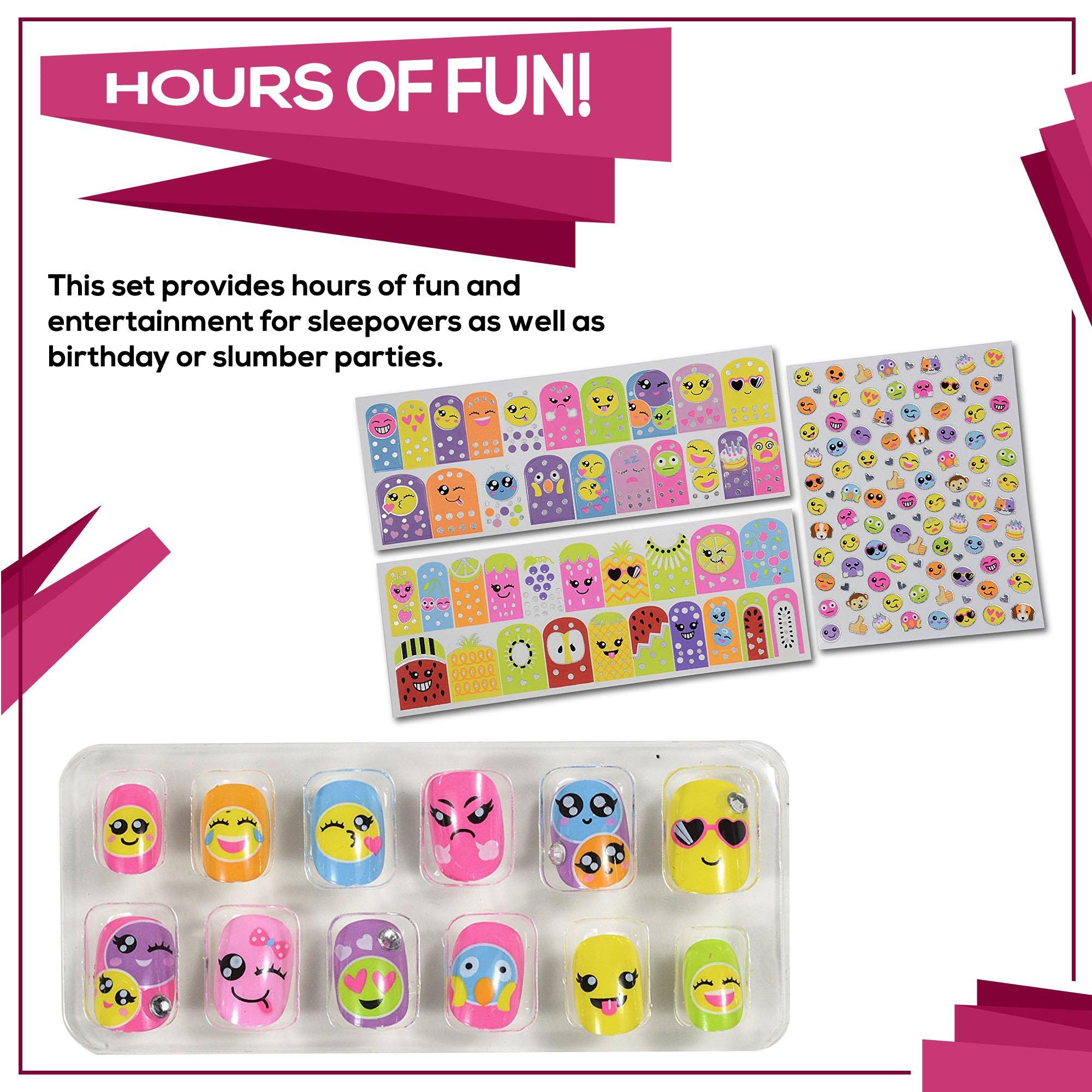 SmitCo LLC Girls Nail Polish, Emoji Nail Art Craft Kits For Kids ...