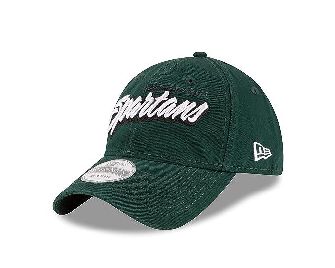 best website e8340 26650 Amazon.com   New Era NCAA Michigan State Spartans Adult Core Script 9TWENTY Adjustable  Cap, One Size, Dark Green   Sports   Outdoors