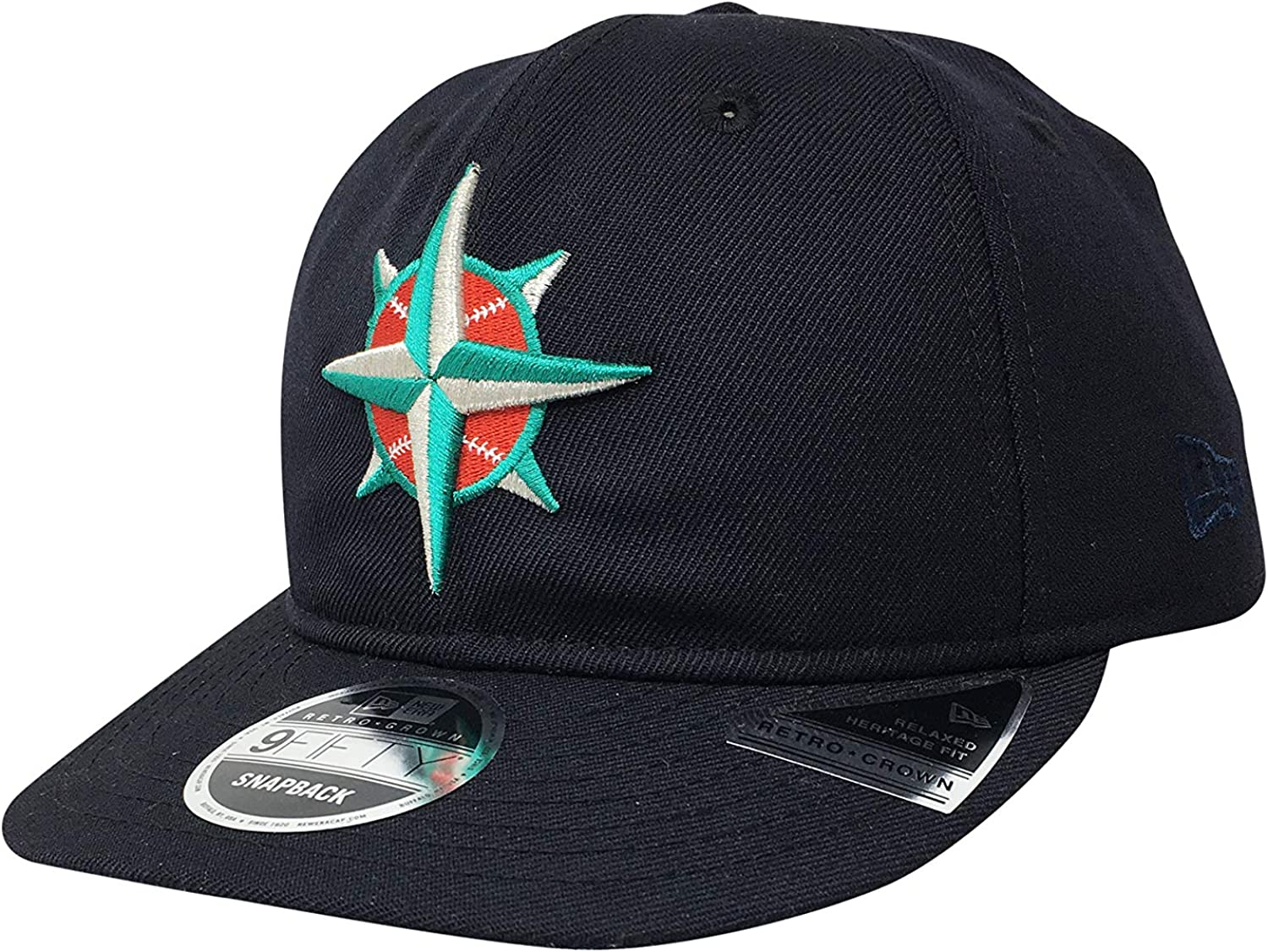 New Era Seattle Mariners Adjustable 9Fifty MLB Flat Bill Baseball Cap 950
