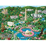 Bits and Pieces - 300 Large Piece Jigsaw Puzzle for Adults - Washington D.C. City View - 300 pc US Capital Scene Jigsaw by Artist Joseph Burgess