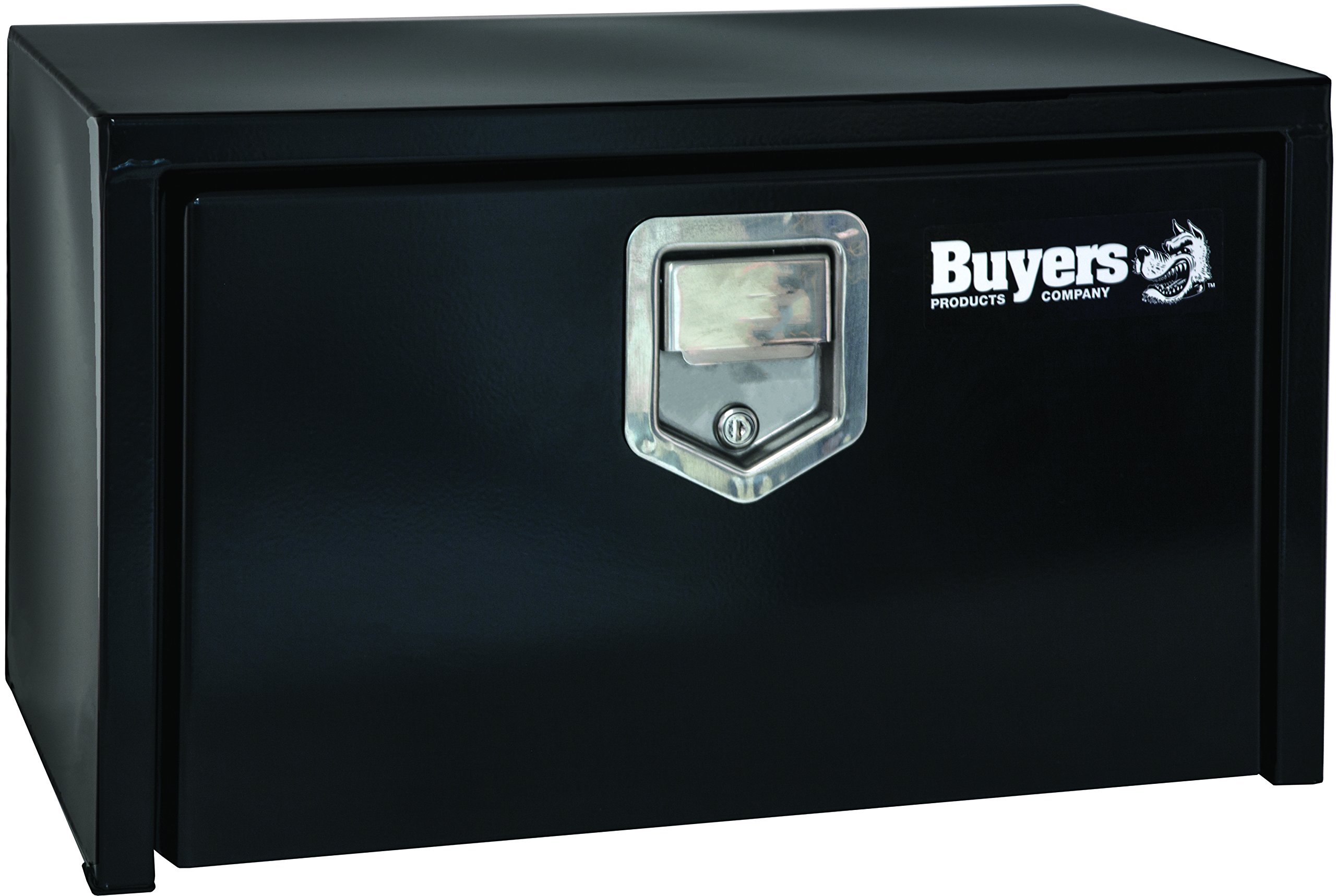 Buyers Products Black Steel Underbody Truck Box w/ Paddle Latch (18x18x24 Inch)
