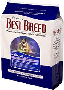 Best Breed Working Dog Diet Made in USA [Natural High Calorie Dry Dog Food] - 4lbs