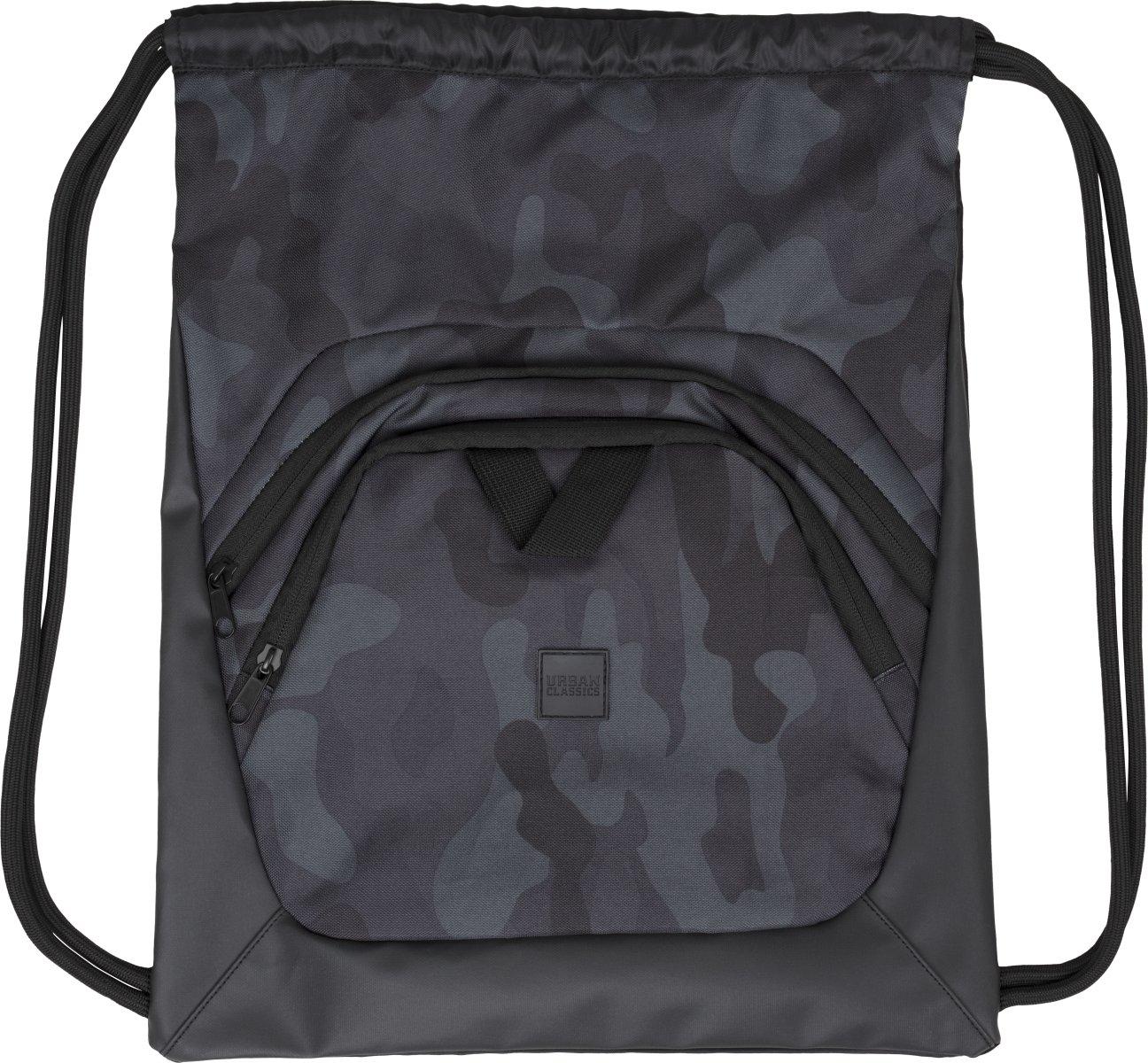 Urban Classics Ball Gym Bag Sac /à Cordon Multicolore Black//Dark Camo//Black 45 cm
